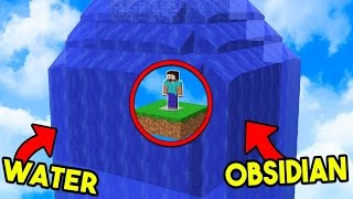 IMPOSSIBLE 100+ OBSIDIAN AND WATER TRAP! (Minecraft Bed Wars)