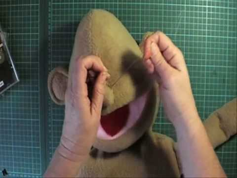 Sewing on human shaped noses VR Puppet Builds