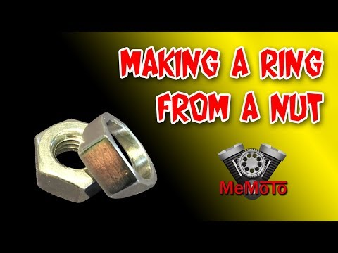 Making a ring from a nut