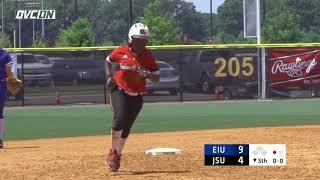 2018 OVC Softball Tournament Highlights - #3 JSU 11, #6 EIU 10 - May 9, 2018
