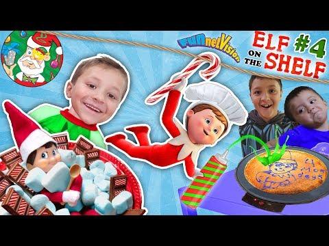 ELF on the SHELF #4 is Floating Magic, Wall Present & Chef Buddy FUNnel V Fam Christmas