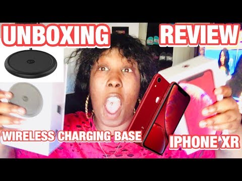 UNBOXING/REVIEW IPHONE XR & MOPHIE WIRELESS CHARGING BASE