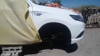 """Первый разбитый полицейский Mitsubishi Outlander, обнаружили на """"секретной"""" фирменной СТО"""