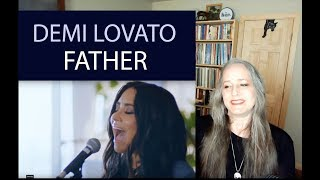 Voice Teacher Reaction to Demi Lovato - Father Live