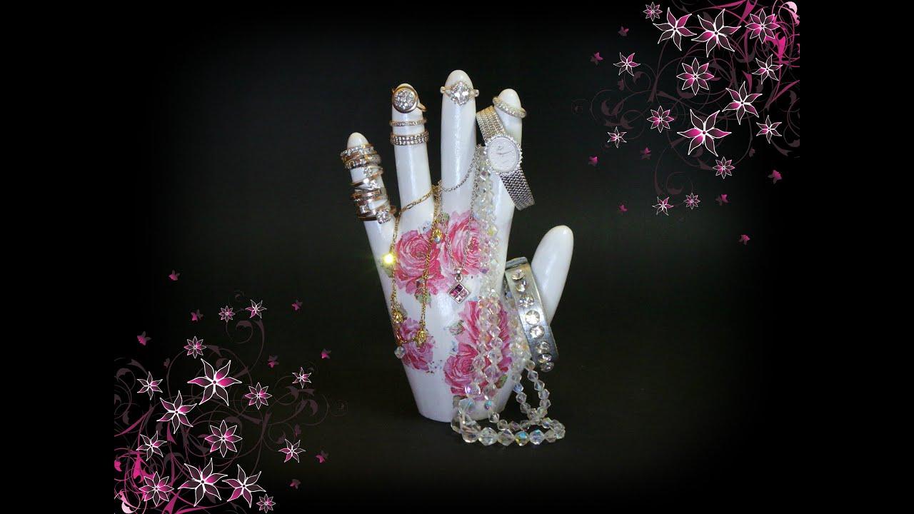 Подставки для ювелирных украшений рука