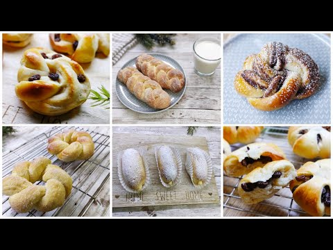 6 Easy Ways to shape bread rolls    6วิธีขึ้นรูปขนมปังง่ายๆ