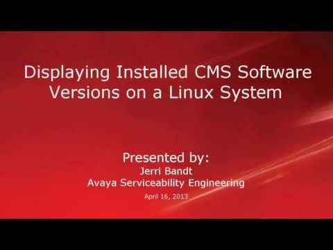 Displaying Installed CMS Software Versions On A Linux System