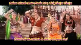 "Mhare Hiwda Mein Naache Mor"" -hum saath saath hain sub español e hindi"