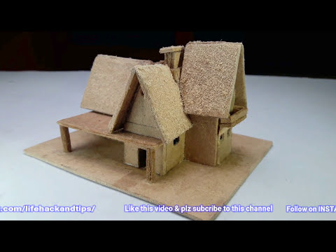 Small Beautiful Cardboard House With Template - YouTube