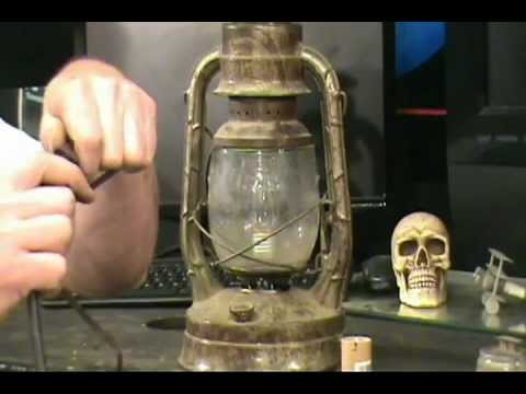 How to make an old kerosene lantern into a decrotive lamp.