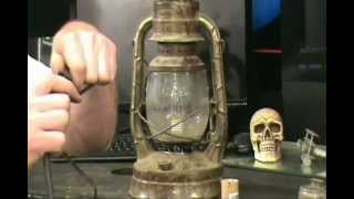 How To Make An Old Kerosene Lantern Into A Decrotive Lamp.