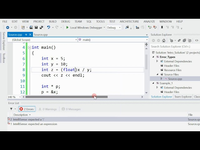 4 - 2   C++   The 3 Types of Errors - with Examples (Arabic بالعربي)