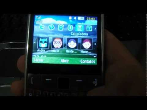 celular samsung ch@t 335, como colocar fotos contatos na tela inicial.