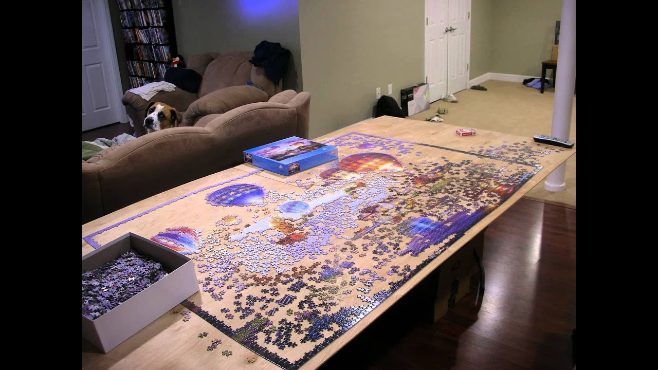 hot air balloon puzzle 6000 pieces time lapse youtube. Black Bedroom Furniture Sets. Home Design Ideas