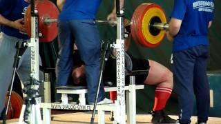 Андрей Маланичев - срыв на жиме 310 кг.