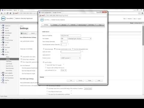How to integrate LDAP or Active Directory with Sonicwall appliance