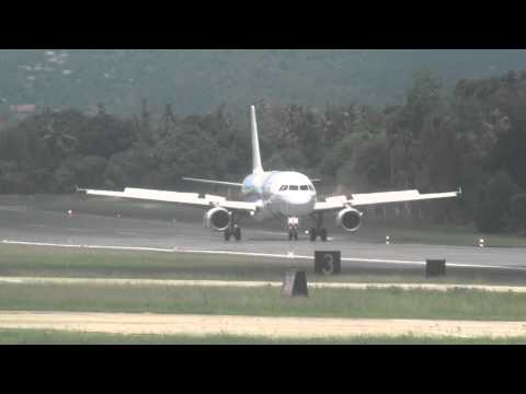 Bangkok Airways Airbus A319 Landing at Koh Samui Airport