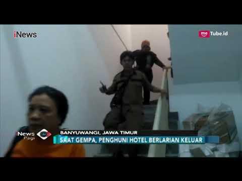 Penghuni Hotel Panik Berhamburan Saat Terjadi Gempa 6,3 SR Situbondo - INews Pagi 11/10