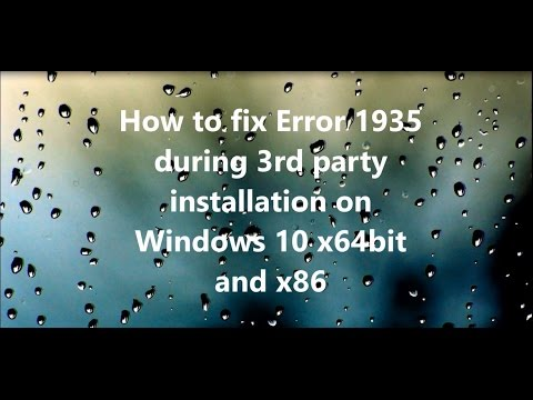 How to Fix Error 1935 windows 10 office 2010 windows 8 /8.1 /10