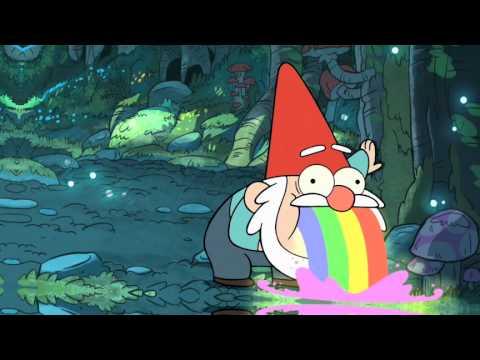 Gravity Falls Puking Gnome Wallpaper Gnome Puking Rainbows It S Gravity Falls Youtube