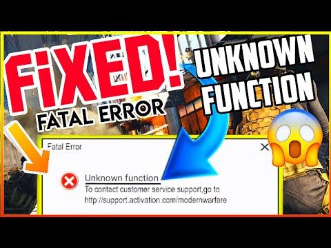 error unknown function warzone   fatal error unknown function warzone   warzone fatal error   2021