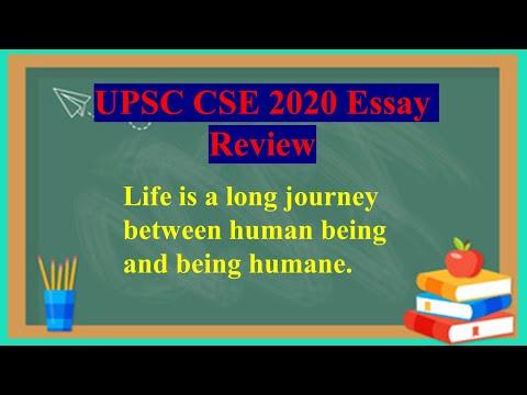 UPSC CSE 2020 Essay Review