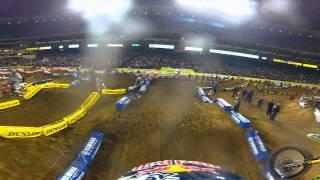 GoPro HD: James Stewart Anaheim 1 Main Event Race Monster Energy Supercross 2012
