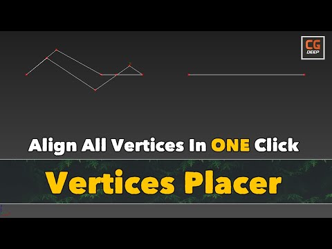 How to align vertices with Vertices Placer in 3ds max 2021 | Soul Burn | Tutorials | CG Deep