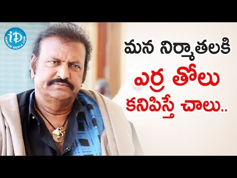 Mohan Babu Sensational Comments | Frankly With TNR | Celebrity Buzz | iDream Filmnagar