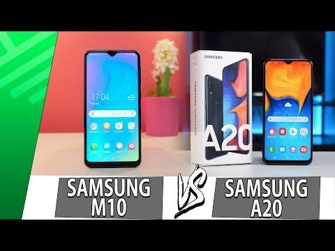 Samsung M10 VS Samsung A20 | Enfrentamiento | Top Pulso