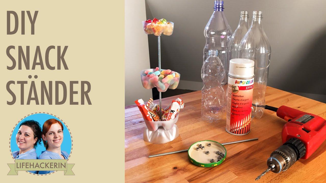 snackst nder aus pet flaschen i diy etagere i upcycling youtube. Black Bedroom Furniture Sets. Home Design Ideas