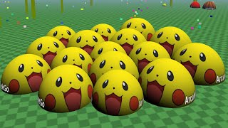 New Agario 3D 1st Place Challenge With Pikachu Team - ( Biome3D - Agar.io 3D Clone Live Stream )