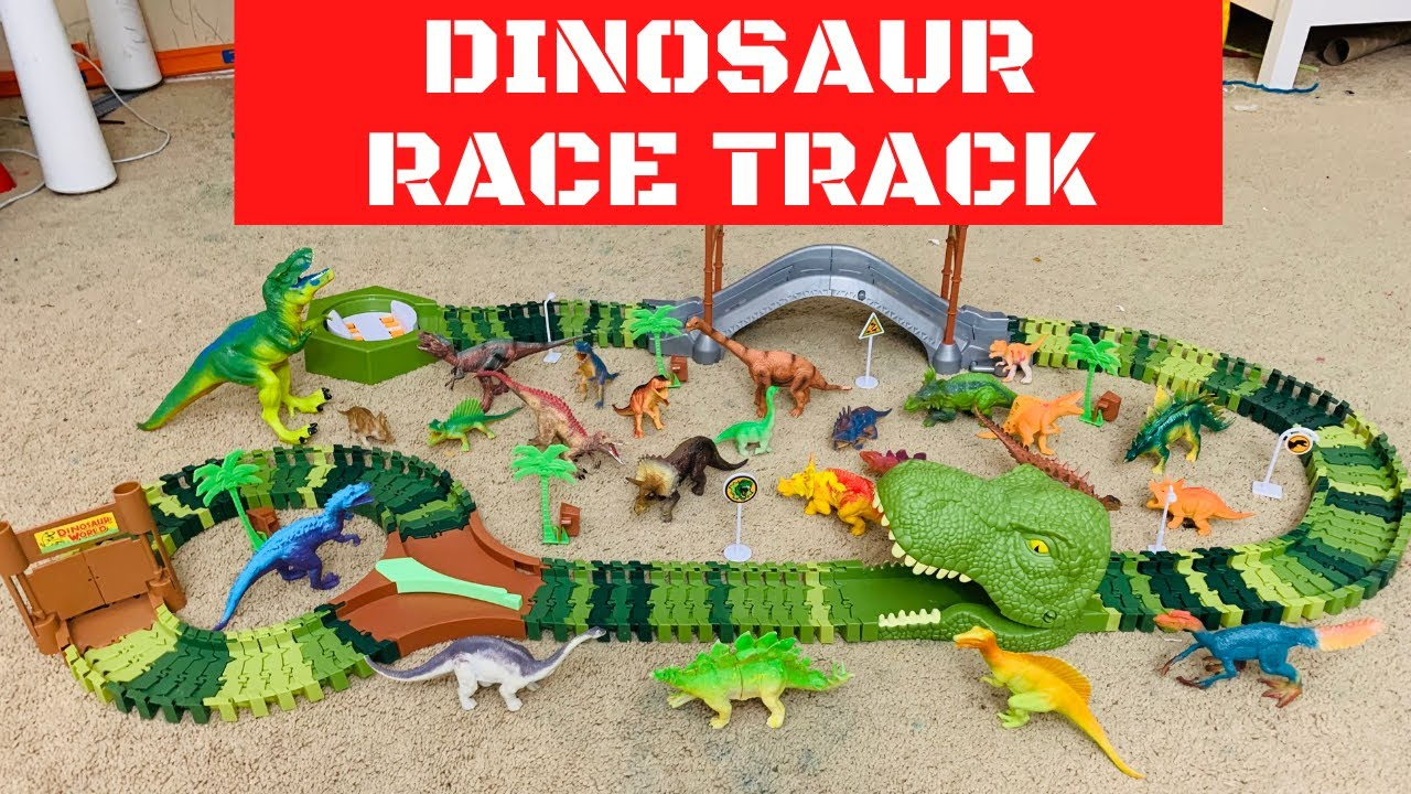 Dinosaur Race Track   Dino Track Toy for Kids   Dinosaur Track Game Unboxing & Review डायनॉसोर ट्रैक