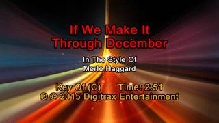 Merle Haggard - If We Make It Through December (Backing Track)