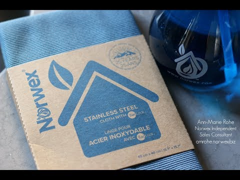Norwex Stainless Steel Cloth - How to clean stainless steel
