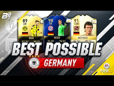 BEST POSSIBLE GERMANY TEAM! w/ TOTY NEUER AND IF REUS! | FIFA 17