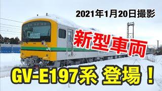 新型車両 GV-E197系が甲種輸送がされる!
