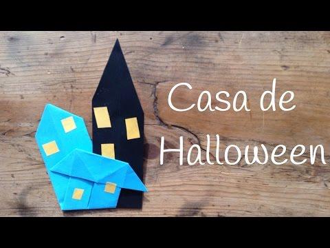 Casa encantada de halloween un origami fácil para niños