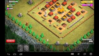 Gobbotown - Town Hall Level 2 - 2 Star - 5 Archers, 5 Giants - Simple Clash of Clans
