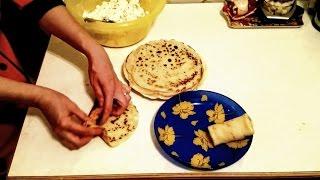 Блинчики с Творогом Рецепт блинов с творогом и сыром как приготовить фаршированные домашние