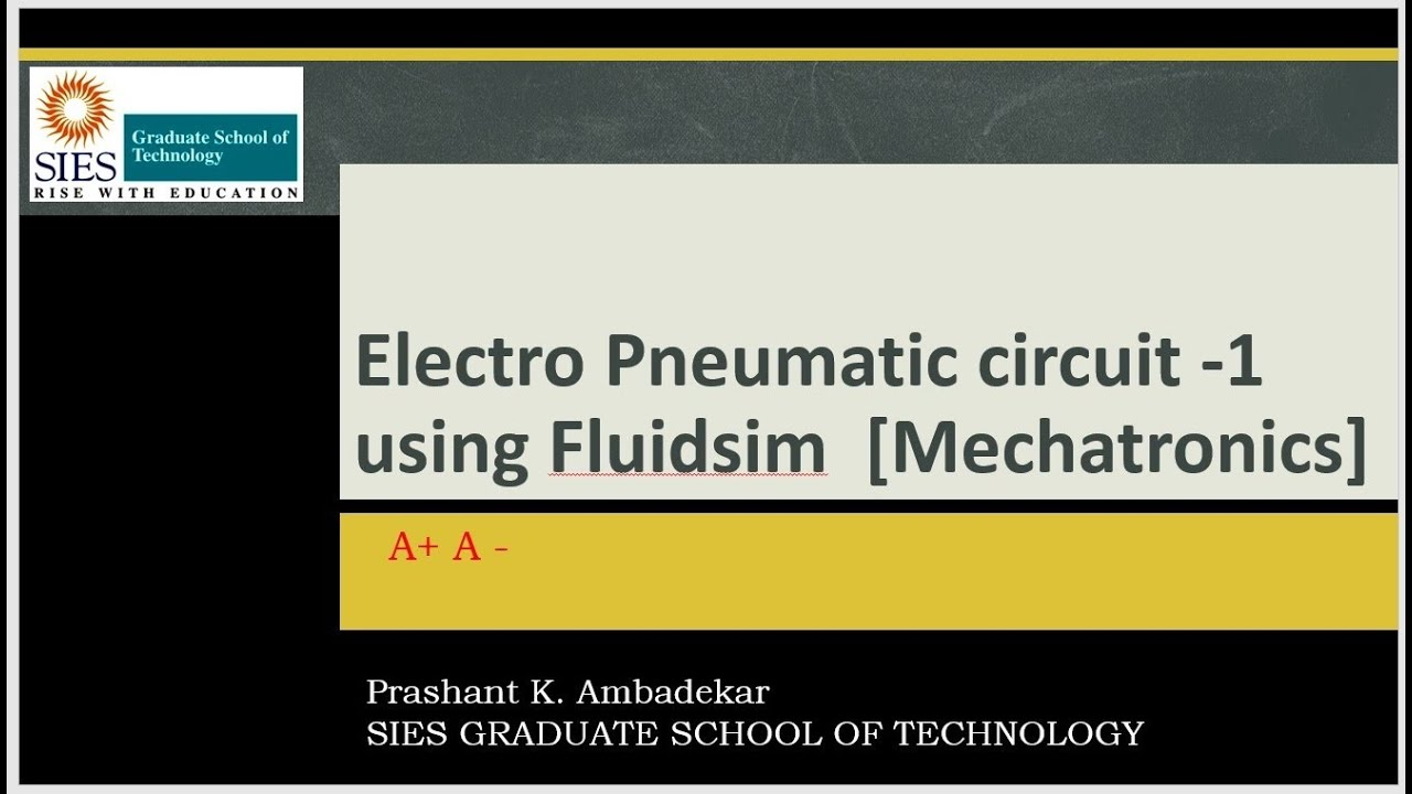 Electro Pneumatic    circuit    1  Mechatronics  using Fluidsim for A A   YouTube