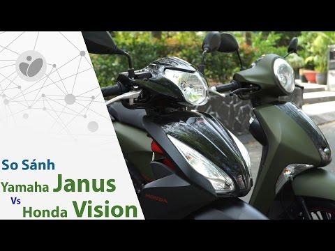 Xe.Tinhte.vn | So Sánh Yamaha Janus Limited Premium Và Honda Vision đen Nhám
