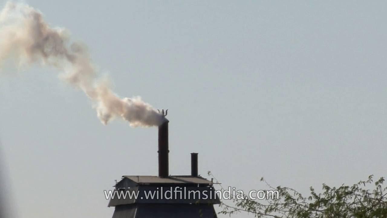 Air pollution: Factory Chimney emits smoke in Jodhpur, through Hindu ...