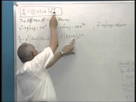 5.7-The method of undetermined coefficients 5.8-Variation of parameters
