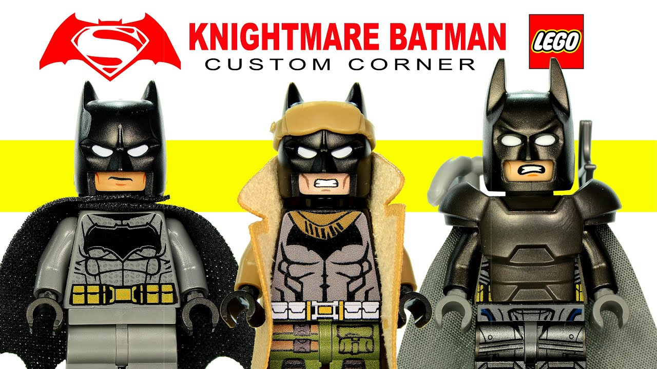 LEGOR Knightmare Batman Based On V Superman Dawn Of Justice Custom Corner Minifigure