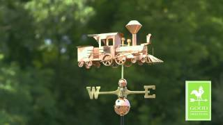 Gd553p Locomotive Weathervane Polished Copper