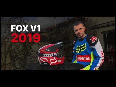 FOX V1 2019 ROUGE MATE ⛑
