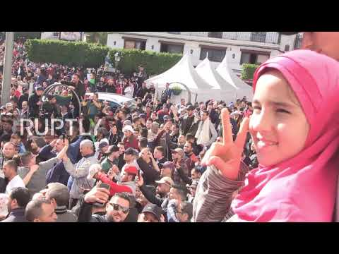Algeria: Police face-off with anti-Bouteflika protesters in Algiers
