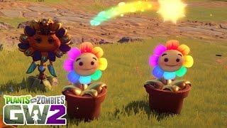 Brand New Rainbow Heal Flower Ability! Plants vs Zombies Garden Warfare 2