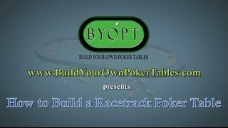 How To Build A Racetrack Poker Table Video - Animation